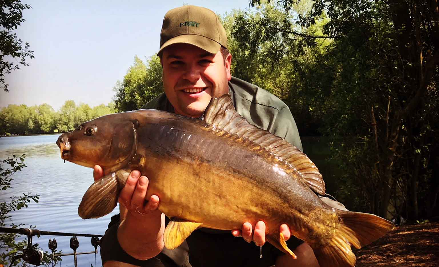 Laszlo Szabo - Field Tester - caught on Dynamic Washed Out Mango & Cream Boilies