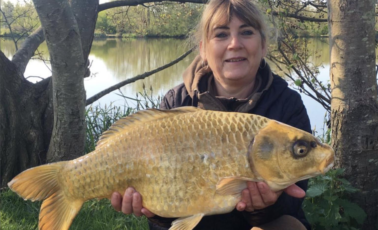 Sue Seton-Smith - Field Tester - Caught on Dynamic Washed Out Mango & Cream Boilies