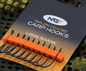 NGT long shank carp hooks