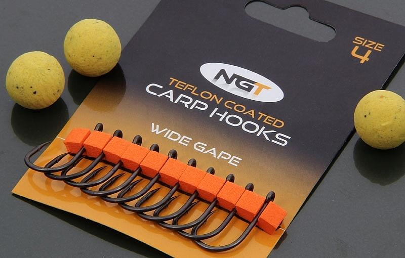 Wide Gape Hooks 50 Teflon Coated Wide Gape Carp Hooks